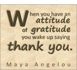 Attitude of Gratitude Quote