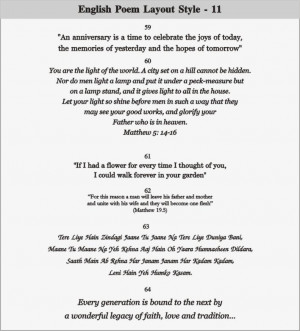 Wedding Invitation Quotes And Poems English poem layout - 11