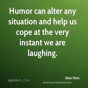 Allen Klein Humor Quotes