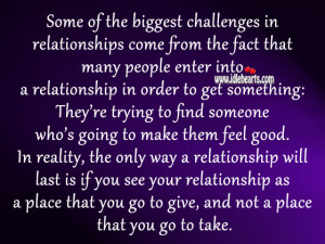 ... From The Fact That Many People Into A Relationship ~ Challenge Quotes