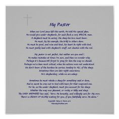 poem for pastor appreciation | pastors faint cross embellishment nice ...