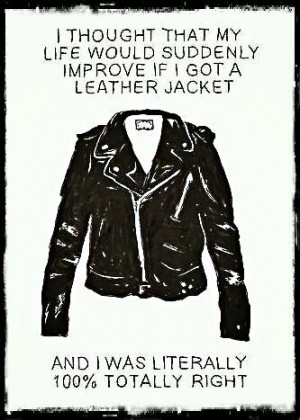 Thinking about leather Jacket... #leather #jacket #quotes #followers