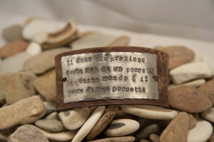 Leather Cuff bracelet, quote the most precious possession quote ...
