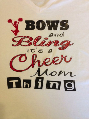 Cheer Mom T-Shirt on Etsy, $30.00