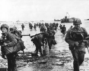 ... Omaha beach during the Normandy D-Day landings near Vierville sur Mer