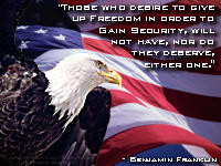 Benjamin Franklin quote on Freedom and Secuity. Includes one of my ...