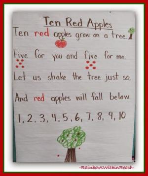 apple poem anchor chart apple roundup at rainbowswithinreach