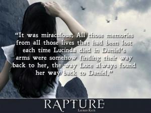 ... Lauren Kate Quotes, Daniel Grigori, Favorite Book, Rapture Quotes