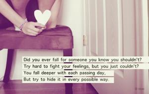 feelings, girl, heart, heart break, hide, lonely, love, loving