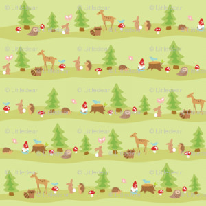 woodland animal fabric