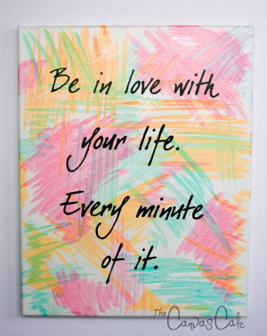 11x14 Acrylic Painting on Canvas, Inspirational Life Quote, Pink ...