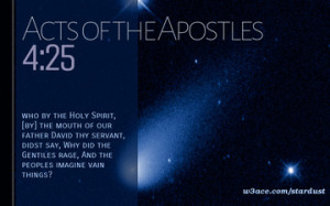 Bible Quote Acts of the Apostles 4 25 Inspirational Hubble Space