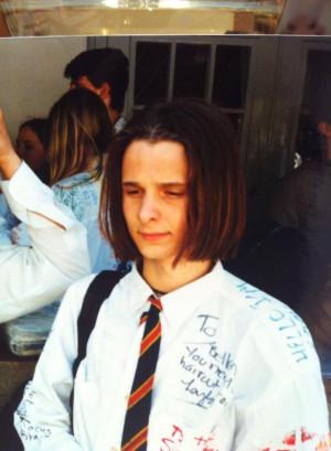 Matt lorsqu'il était élève au Teignmouth Community College