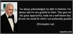 More Christopher Lee Quotes