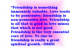 Quotes of Osho On Cute Friendship