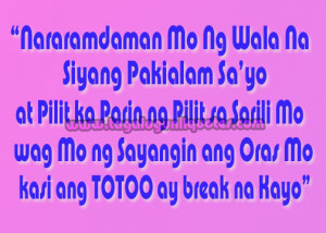 Tagalog Quote for Broken Hearted - Sad Quotes for Broken Hearted