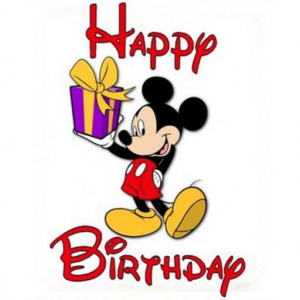 Birthday Card - Mickey Mouse - Say it with a Greetings Card Version 1 ...