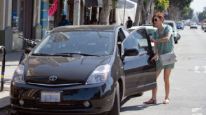 Kate Walsh was spotted riding the dark-brown colored Toyota Prius in ...
