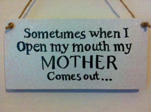 yeah, and sometimes when my mouth is closed too . . . . the non-verbal ...