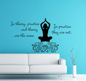 Wall Decals Quote In theory, practice and theory Decal Vinyl Sticker ...