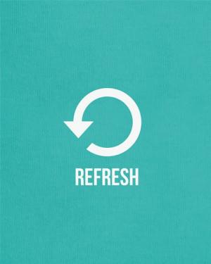 Refresh - 11x14 Print - modern typography print art life inspirational ...