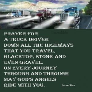 Truck Driver prayer