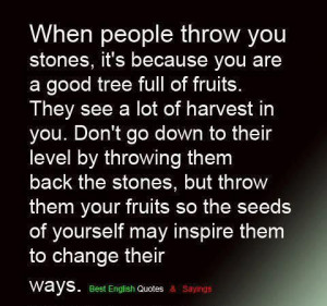 When People Throw You Stones
