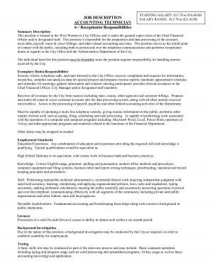 Job Description Accounting