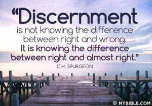 CHARLES SPURGEON ON DISCERNMENT