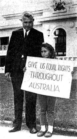 Hassen and daughter protesting outside Parliament House in Canberra ...