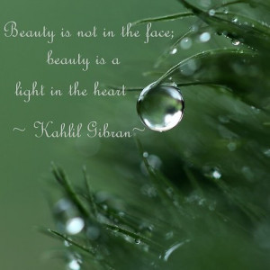heart-warming quote by the poet Kahlil Gibran