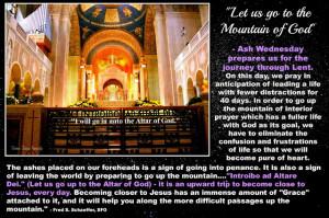 Ash Wednesday - The Upward Trip To Become Close To Jesus