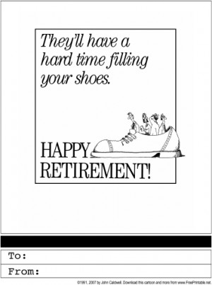 free printable retirement