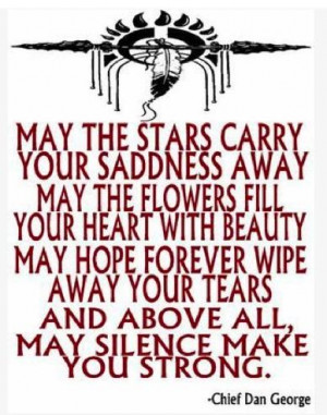 Native American Sayings | Native American Blessing: Carry Your Sadness ...