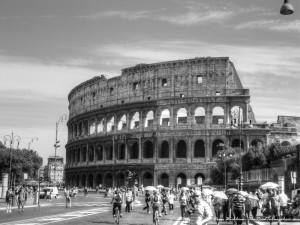 vintage black and white travel photography rome italy famous
