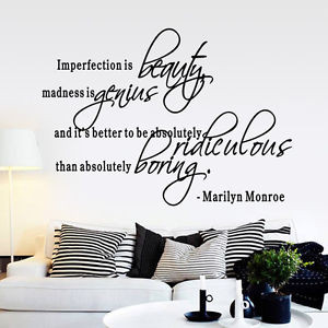 Imperfection-Is-Beauty-MARILYN-MONROE-WALL-STICKER-DECAL-QUOTE-MURAL ...