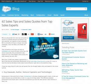 """article entitled """"62 Sales Tips and Sales Quotes from Top Sales ..."""