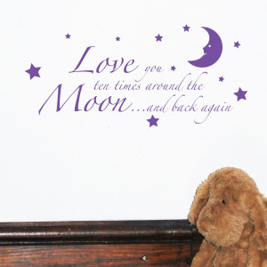 Love You To The Moon And Back Wall Sticker Quote by Serious Onions Ltd ...