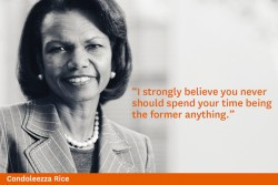 An example? Here's what Condoleezza Rice says (she's on slide #2 ...