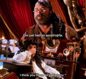 ve just had an apostrophe I think you mean an epiphany - Hook (1991)