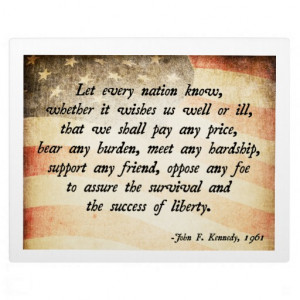 John. F Kennedy Quote Display Plaques