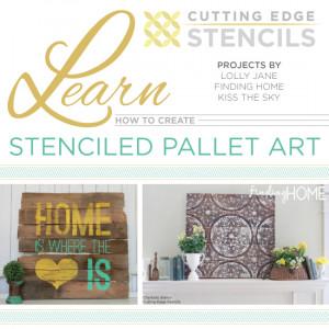 ... -edge-stencils-stenciled-pallet-art-charlotte-stencil-quote-stencil