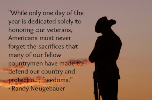 Congressman Randy Neugebauer reminds us all never to forget our heroes ...