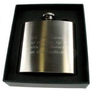 Personalised 18th Birthday Engraved Brushed Steel Hip Flask