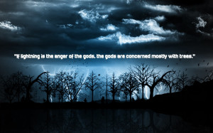 Trees Quotes Wallpaper 1680x1050 Trees, Quotes, Lightning