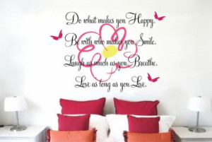 Inspirational Flowers And Birds Vinyl Quotes Wall Stickers Decals In ...
