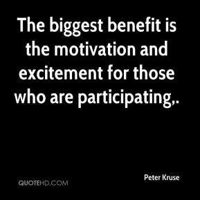 Peter Kruse - The biggest benefit is the motivation and excitement for ...