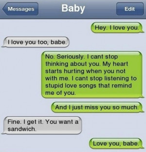 Funny Random Things To Text Your Girlfriend