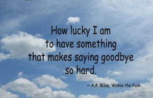 hard to say goodbye