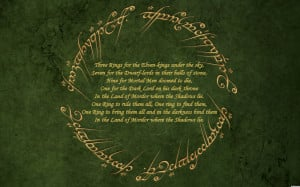 Lord of the Rings Lord of the Ring Quotes